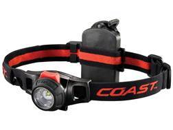 Coast HL7R Headlamp LED Focusable Variable Power Rechargeable with 3 AAA Ni-MH Batteries Aluminum Gray