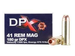 Cor-Bon DPX Ammunition 41 Remington Magnum 180 Grain DPX Hollow Point Lead-Free Box of 20