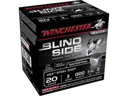 "Winchester Blind Side Ammunition 20 Gauge 3"" 1-1/16 oz #2 Non-Toxic Steel Shot Box of 25"