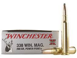 Winchester Super-X Ammunition 338 Winchester Magnum 200 Grain Power-Point Case of 200 (10 Boxes of 20)