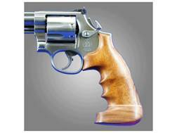 Hogue Fancy Hardwood Grips with Accent Stripe, Finger Grooves and Contrasting Butt Cap Dan Wesson Large Frame Oversize