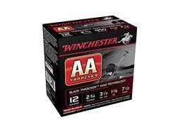 "Winchester AA TrAAcker Ammunition 12 Gauge 2-3/4"" 1-1/8 oz #7-1/2 Shot Black Wad"