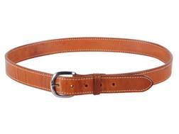 "El Paso Saddlery #20 Dress Belt 1-1/2"" Brass Buckle Leather Russet Brown 38"""