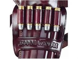 Galco Holster Bandolier Ammunition Carrier Right Hand for Kodiak Holster 5-Round 500 S&W Magnum Leather Brown