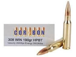 Cor-Bon Performance Match Ammunition 308 Winchester 190 Grain Sierra Hollow Point Boat Tail Box of 20