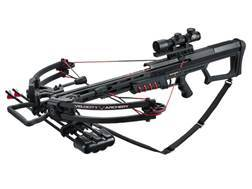 Velocity Archery Armageddon Crossbow Package with 4x 32mm Illuminated Crossbow Scope Black