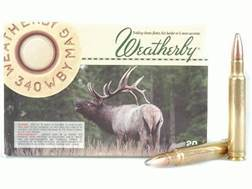 Weatherby Ammunition 340 Weatherby Magnum 210 Grain Nosler Partition Box of 20