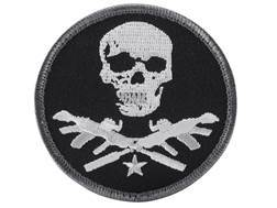 Advanced Armament Co (AAC) Round X-Guns Logo Patch Hook-&-Loop Fastener Black, Gray & White
