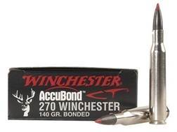 Winchester Ammunition 270 Winchester 140 Grain Nosler AccuBond Case of 200 (10 Boxes of 20)