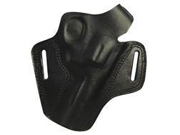 "Bulldog Deluxe Molded Holster with Thumb Break Medium Fits Revolvers with 4"" Barrels Right Hand Leather Black"