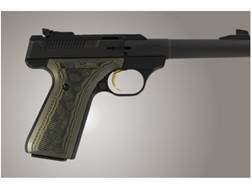 Hogue Extreme Series Grips Browning Buckmark Checkered G-10 OD Green