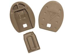 Vickers Tactical Magazine Floor Plates S&W M&P Full Size 9mm Luger, 40 S&W, 357 Sig Polymer Flat Dark Earth Package of 5