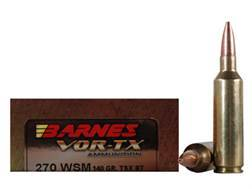 Barnes VOR-TX Ammunition 270 Winchester Short Magnum (WSM) 140 Grain Triple-Shock X Bullet Boat Tail Lead-Free Box of 20