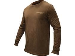 Natural Gear Men's Duck Logo T-Shirt Long Sleeve Tri-Blend Brown Medium