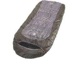 Coleman Big Basin 10 Degree  Hybrid Sleeping Bag Polyester Brown and Gray