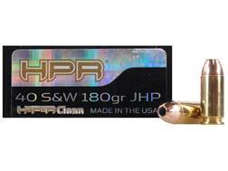 HPR HyperClean Ammunition 40 S&W 180 Grain Hornady XTP Jacketed Hollow Point Box of 50