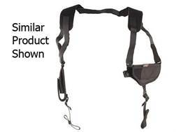 "Uncle Mike's Pro-Pak Horizontal Shoulder Holster Ambidextrous Medium, Large Frame Semi-Automatic 3.25"" to 3.75"" Barrel Nylon Black"