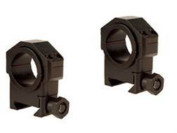 """Leatherwood Hi-Lux 30mm Max-Tac Tactical Picatinny-Style Rings with 1"""" Inserts Matte"""