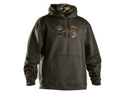 Under Armour Men's UA Tackle Twill Hooded Sweatshirt Polyester Rifle Green and Mossy Oak Break-Up Infinity Camo XL 46-48