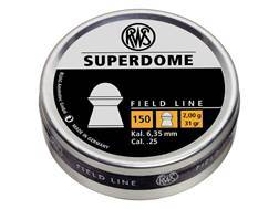 RWS Superdome Airgun Pellets 25 Caliber 31 Grain Round Nose Tin of 150