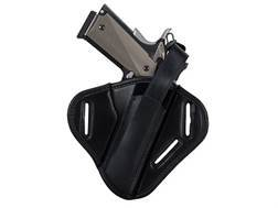 "Uncle Mike's Super Belt Slide Holster Ambidextrous Medium, Large Frame Semi-Automatic 3.25"" to 3.75"" Barrel Nylon Black"