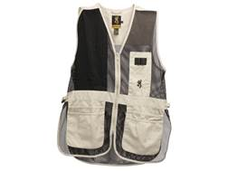 Browning Men's Trapper Creek Mesh Shooting Vest Right Handed Cotton Sand/Black XL
