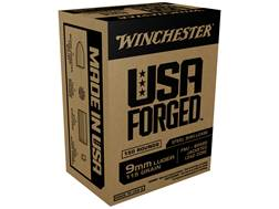 Winchester USA Forged Ammunition 9mm Luger 115 Grain Full Metal Jacket Steel Case