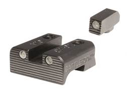 BattleHook Night Sight Set Glock 17, 19, 22, 23, 24, 26, 27, 33, 34, 35, 37, 38, 39 3-Dot Tritium Ultra Carry Steel Black