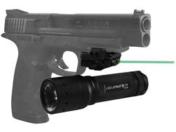 Crimson Trace Mini Rail Master Green Laser Sight with Universal Rail Mount Polymer Black with Free Flashlight