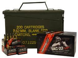 Norma USA TAC-22 Ammunition 22 Long Rifle 40 Grain Lead Round Nose Subsonic Ammo Can of 1500 (3 B...