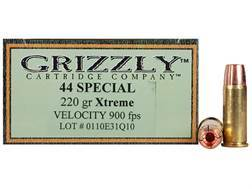 Grizzly Self-Defense Ammunition 44 Special 220 Grain Xtreme Copper Hollow Point Lead-Free Box of 20