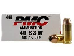 PMC Bronze Ammunition 40 S&W 165 Grain Jacketed Hollow Point Box of 50