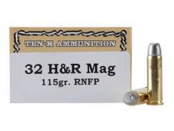Ten-X Cowboy Ammunition 32 H&R Magnum 115 Grain Lead Round Nose Box of 50