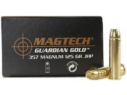 Magtech Guardian Gold Ammunition 357 Magnum 125 Grain Jacketed Hollow Point Box of 20