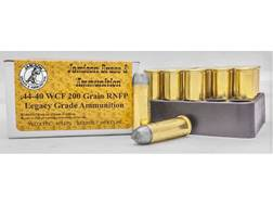 Jamison Ammunition 44-40 WCF 200 Grain Round Nose Flat Point Box of 20
