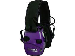 Howard Leight Impact Sport Electronic Earmuffs (NRR 22 dB) Purple