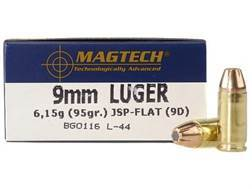 Magtech Sport Ammunition 9mm Luger 95 Grain Jacketed Soft Point Case of 1000 (20 Boxes of 50)