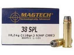 Magtech Sport Ammunition 38 Special 158 Grain Semi-Jacketed Soft Point Case of 1000 (20 Boxes of 50)