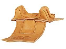 Protektor Wide Owl Ear Straddle Shooting Rest Bag Leather Tan Unfilled