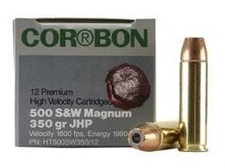 Cor-Bon Hunter Ammunition 500 S&W Magnum 350 Grain Jacketed Hollow Point Box of 12