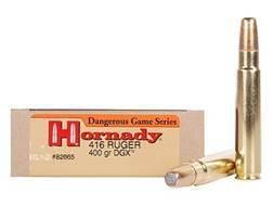 Hornady Dangerous Game Ammunition 416 Ruger 400 Grain DGX Flat Nose Expanding Box of 20