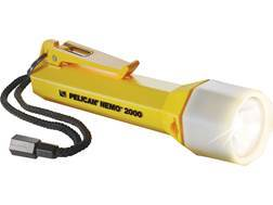 Pelican Nemo 2000N Flashlight Xenon with 3 C Batteries Polymer Yellow