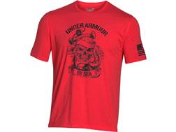 Under Armour Men's UA Freedom by Sea T-Shirt Short Sleeve Cotton and Polyester Rocket Red Large