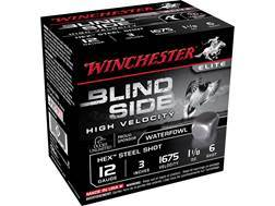 "Winchester Blind Side High Velocity Ammunition 12 Gauge 3"" 1-1/8 oz #6 Non-Toxic Steel Shot"