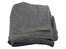Military Surplus Polish Blanket Wool Gray