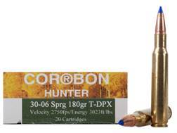 Cor-Bon DPX Hunter Ammunition 30-06 Springfield 180 Grain Tipped DPX Lead-Free Box of 20