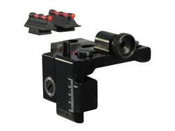 Williams Fire Sight Set Marlin 336 with Ramped Front Sight Aluminum Black Fiber Optic Red Front, ...