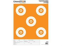 "Champion ShotKeeper 5 Large Bullseye Targets 11"" x 16"" Paper White/Orange Bull Package of 12"