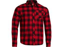 Under Armour Men's Stockton Flannel Shirt Long Sleeve Polyester Big Apple Red Large 42-44