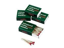 Texsport Waterproof Safety Matches Pack of 4 Boxes